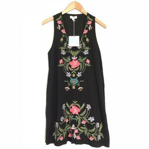 NEW Umgee Floral Embroidered Dress Sleeveless